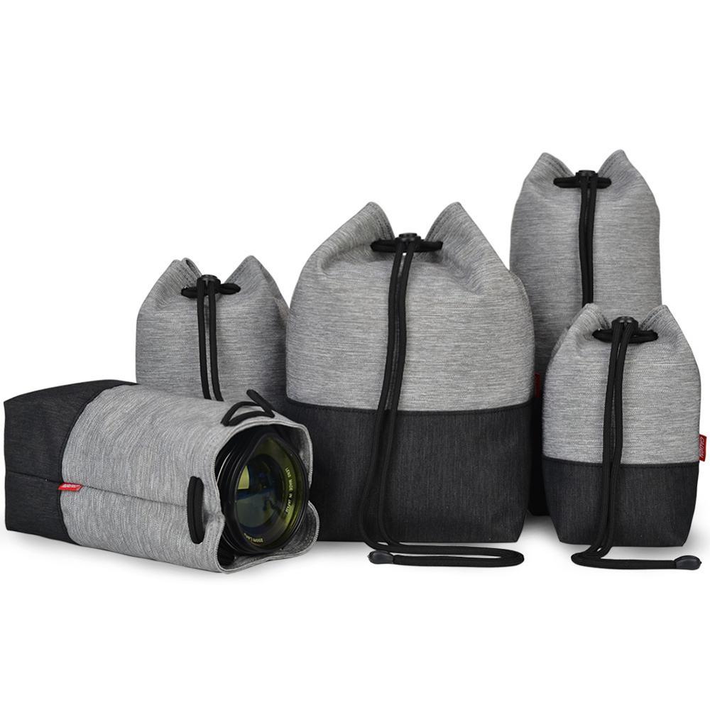 Водонепроницаемая сумка для объектива камеры, мягкий чехол для Nikon, Canon, Sony, Panasonic, Fujifilm, Olympus, Tamron, Sigma, Tokina