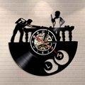 Виниловая тема для снукера  бесшумные настенные часы  креативные декоративные настенные часы  Спортивная Тема  бесшумные настенные часы  Со...