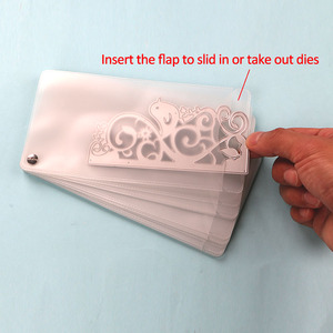 Image 2 - DUOFEN מתכת חיתוך מת מחזיק בינוני גודל חיתוך מת אחסון בתוספת בד תיק DIY Scrapbook נייר גלרית 2019 חדש