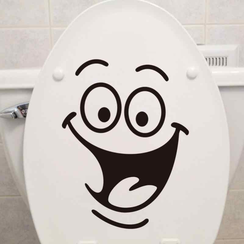 1 adet tuvalet banyo yaratıcı su geçirmez etiket tuvalet sticker duvar Sticker ev dekorasyon yaratıcı desen Diy komik duvar sanatı