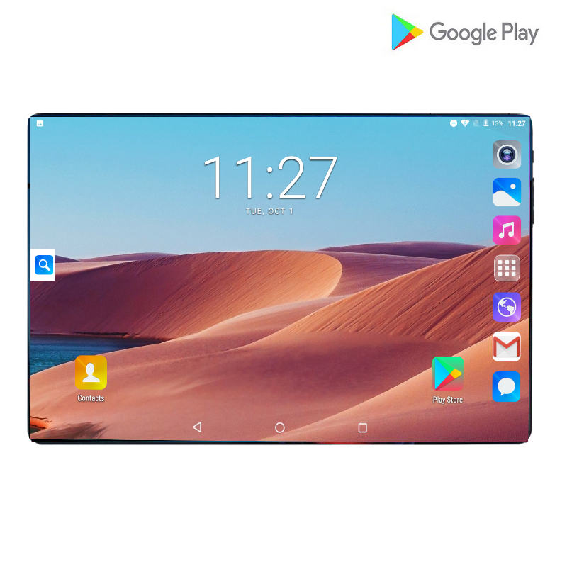2020 New 10 Inch Tablet Android 9.0 Octa Core 6GB RAM 128GB ROM 3G 4G FDD LTE Wifi GPS Phone Call Glass Screen Tablet Pc + Gifts