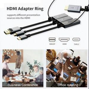 Image 3 - كابل USB C إلى HDMI محول 4K/60Hz مطلية بالذهب الألومنيوم قذيفة نوع C إلى HDMI محول لماك بوك اير Matebook شاومي C316