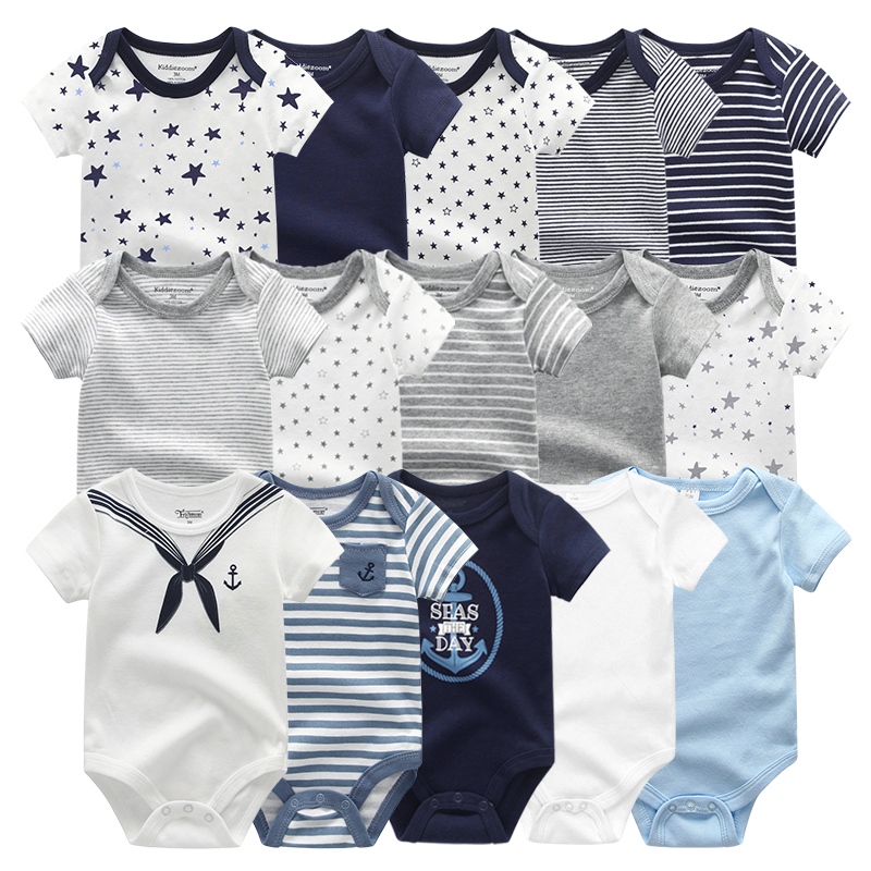 2021 Unisex 5PCS Baby Girl Clothes Cotton Bodysuits Newborn Baby Boy Clothes Cartoon Print Girls Baby Clothing Ropa Bebe 1