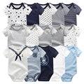 2021 Unisex 5PCS Baby Girl Clothes Cotton Bodysuits Newborn Baby Boy Clothes Cartoon Print Girls Baby Clothing Ropa Bebe