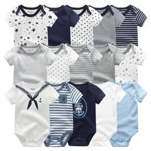 2021 Unisex 5PCS Baby Girl Clothes Cotton Bodysuits Newborn Baby Boy Clothes Cartoon Print Girls Baby Clothing Ropa Bebe