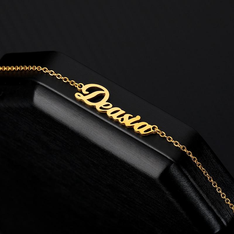 Custom Name Ankle Stainless Steel Personalized Anklets for Women Boho Nameplate Ankle Bracelet BFF Jewelry tornozeleira feminina