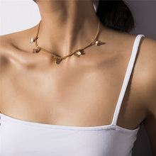 Sweet Color Butterfly Necklace For Women Long Wild Clavicle Simple Chain Pendant Refined Stylish Mujer Gift 2020 Trendy Gold цена 2017