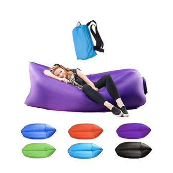 Outdoor Camping Inflatable Sofa Lazy Bag Ultralight Beach Sleeping Air Bed Lounger Travel Trending Products - discount item  40% OFF Outdoor Furniture