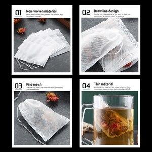 Image 4 - Bolsas de café para cocinar hierbas aromáticas multifunción 100 Uds. Bolsa con cordón bolsas de té bolsas de sellado bolsas de Medcine no tejidas