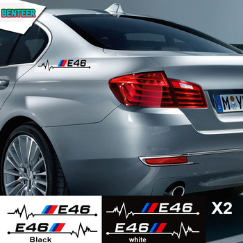 2pcs car sticker for bmw E30 E34 E36 E39 E46 E60 E61E87 E90 E83 F10 F20 F21 F30 F35 image