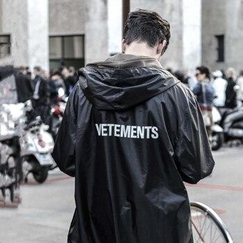Men Portable Loog Vetements Windbreaker Vetements Black Trench Outerwear Waterproof Sunscreen Hooded Vetements Raincoat 1