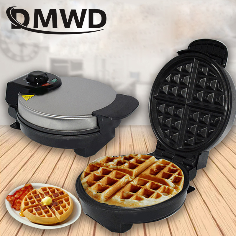 DMWD Electric Eggs Waffle Maker Multifunction Breakfast Crepe Baking Machine MINI Muffin Grill Egg Cake Oven Bakeware EU Plug
