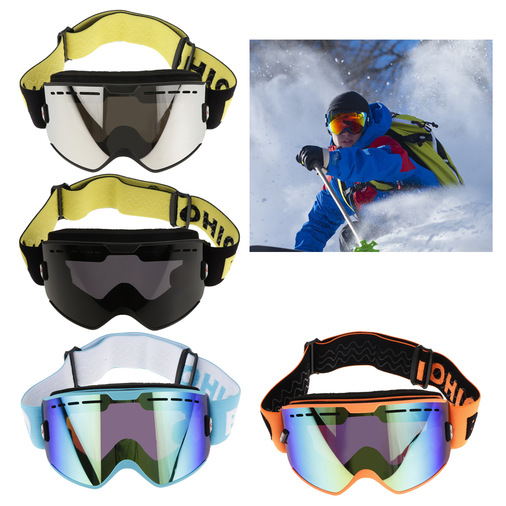 Professional Adult Snowboard Ski Goggles Anti Fog UV Protection Double Lens Layers Foam - Various Colors