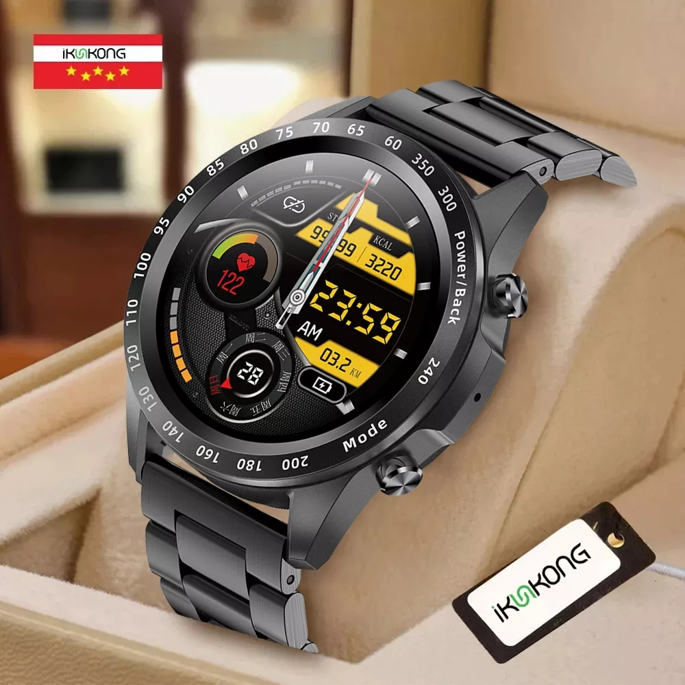 2021 Men Smart Watch TWS Heart Rate Blood Pressure Body Temperature Sports...