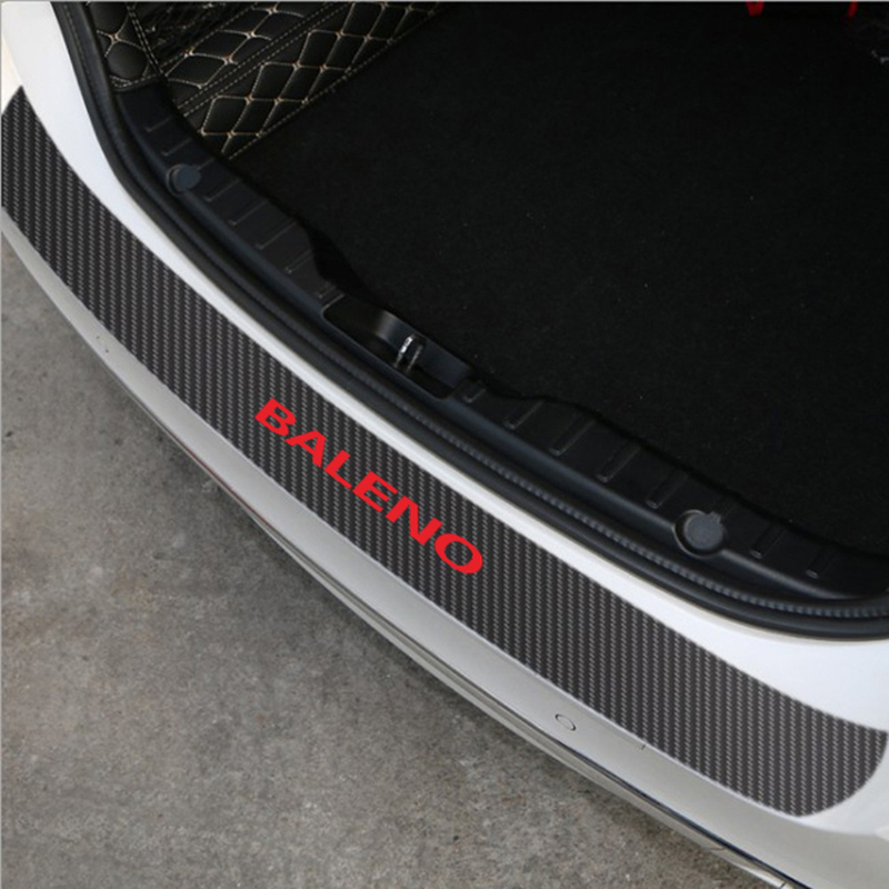 For NISSAN Qashqai leather Carbon fiber Styling  Rear Bumper Trunk Guard Plate