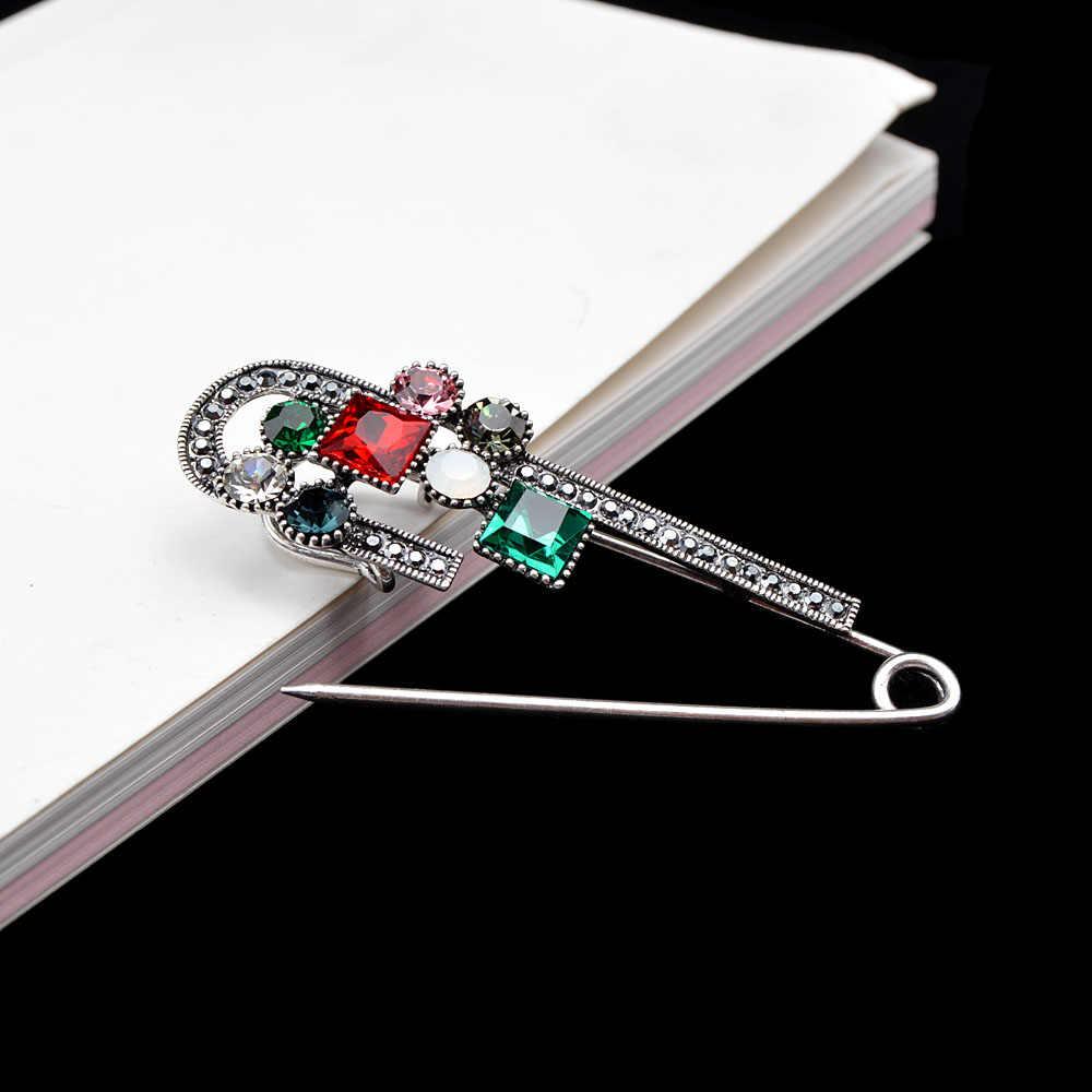 סינדי יאנג Crytsal בטוח פין סיכות לנשים בציר גדול סיכת אביב עיצוב סוודר סיכת 3 צבעים זמין מתנה