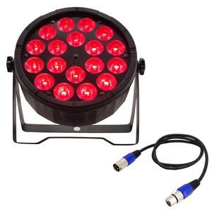Image 1 - 1pieces 18x12w led par light + 1pieces DMX signal line dj dyeing light flat par rgbw 4in1 LED