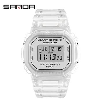 Led Digital Watch For Women Men Wristwatches Sport Ladies Waterproof Clock Transparent Electronic Relogios