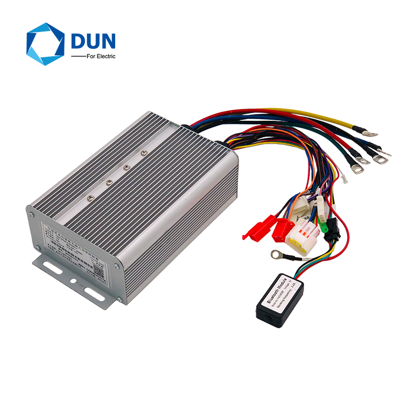 FREE SHIPPING 36FET YKZ72100 48v-72V 100A 2KW-3KW Efficient BLDC Program Electric Controller With Bluetooth
