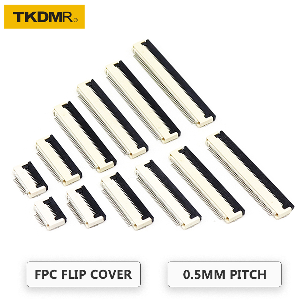 TKDRM 5PCS FPC FFC Connector 0.5mm Flat Cable PCB Connectors 4P 5P 6P 7P 8P 9P 10P 11P 12P 13P 14P 15P 16P 17P 18P 19P