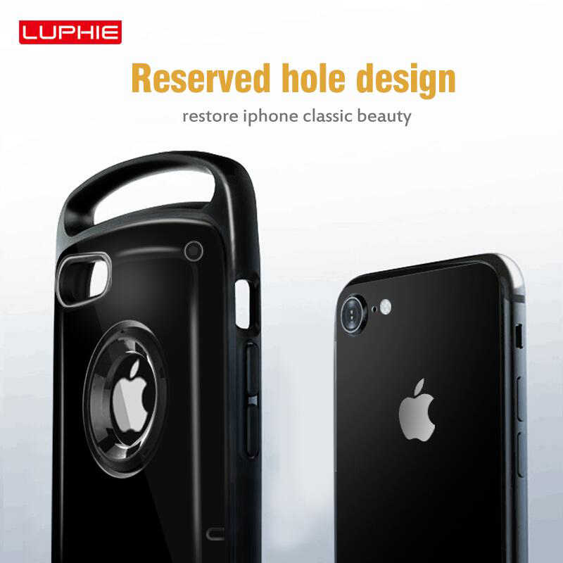 Luphie Hybrid Shockproof Case Voor Iphone 11 Pro Max Heavy Duty Armor Case Voor Iphone 11 X Xs Max Xr 8 7 Plus Hard Silicone Cover