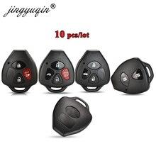 Jingyuqin 10 stücke 2/3/4 Tasten Fernbedienung Auto Schlüssel Fall Shell FOB Für Toyota Camry Corolla Avalon Venza Keine klinge