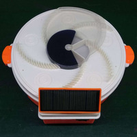 Solar Powered Electric Fly Trap with Trapping Food USB Charging Flycatcher Artifact Catcher DC112