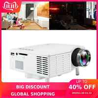 UC28B universel 60 pouces Portable Mini projecteur LED Home cinéma cinéma film vidéoprojecteur avec lentille de revêtement de haute précision