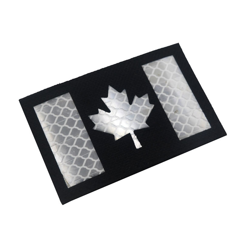 1pc Badge Canadian Flag Printed PVC DIY Apparel Armband Clothes Backpack Hat Patch New