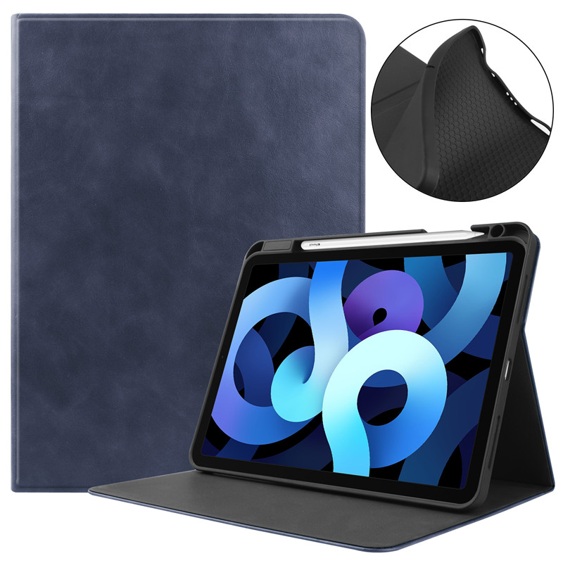 Dark Blue Blue Tablet Case With Pencil Holder Fundas For Apple IPad Air 4 Case 10 9 inch 2020
