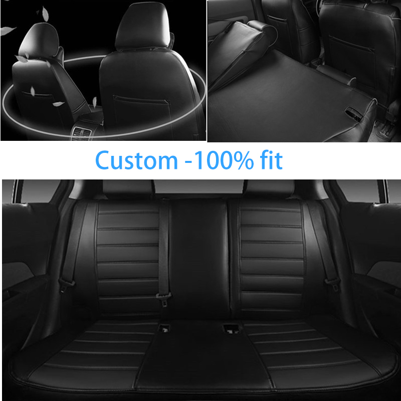 HLFNTF Custom leather Car Seat cover For Mitsubishi ASX outlander Lancer SPORT EX Zinger FORTIS car accessories car-styling
