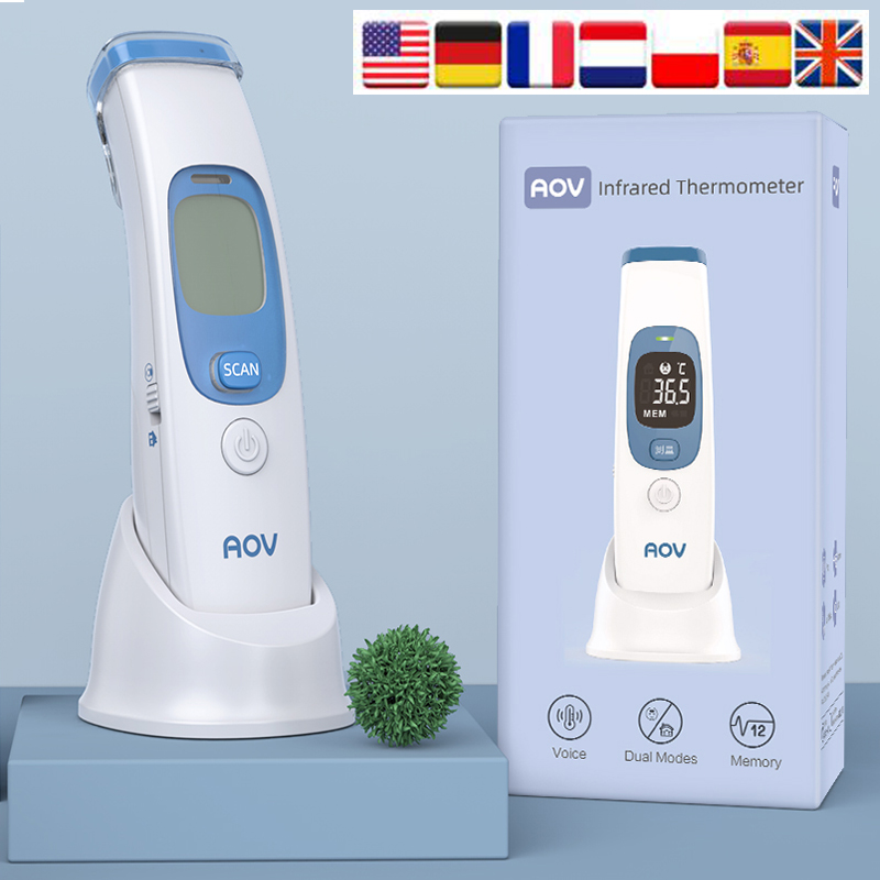 Infrared Forehead Thermometer Gun Digital Non-Contact Body Ear Termometro Laser IR Termometro For Baby Adults With Fever Alarm