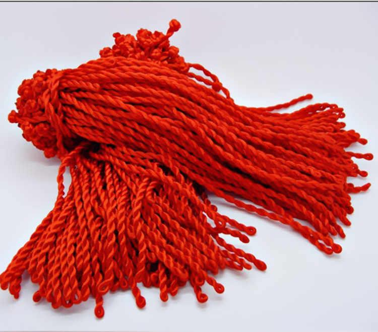 Áspero 4 MILÍMETROS Handwoven Pulseira Corda Vermelha de cerca de 21CM de Comprimento
