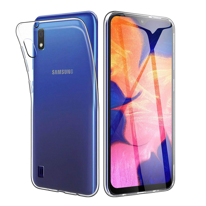 Full-Body Protective Phone <font><b>Case</b></font> Cover for <font><b>Samsung</b></font> Galaxy <font><b>A10</b></font> SM-A105M/DS 2019 Soft TPU Silicon Transparent SamsungA10 Galaxy-<font><b>A10</b></font> image