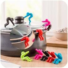 2 шт./лот Кухонные гаджеты, поднятие крышки, переливное устройство, стент для кухонных инструментов, силиконовая крышка для кастрюли, аксессуары для дома и кухни
