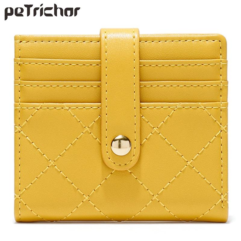 Luxury Brand Leather Credit Card Holder Women Short Zipper Coin Purse Designer Mini Clutch Wallet Female Money Bag Small Wallets