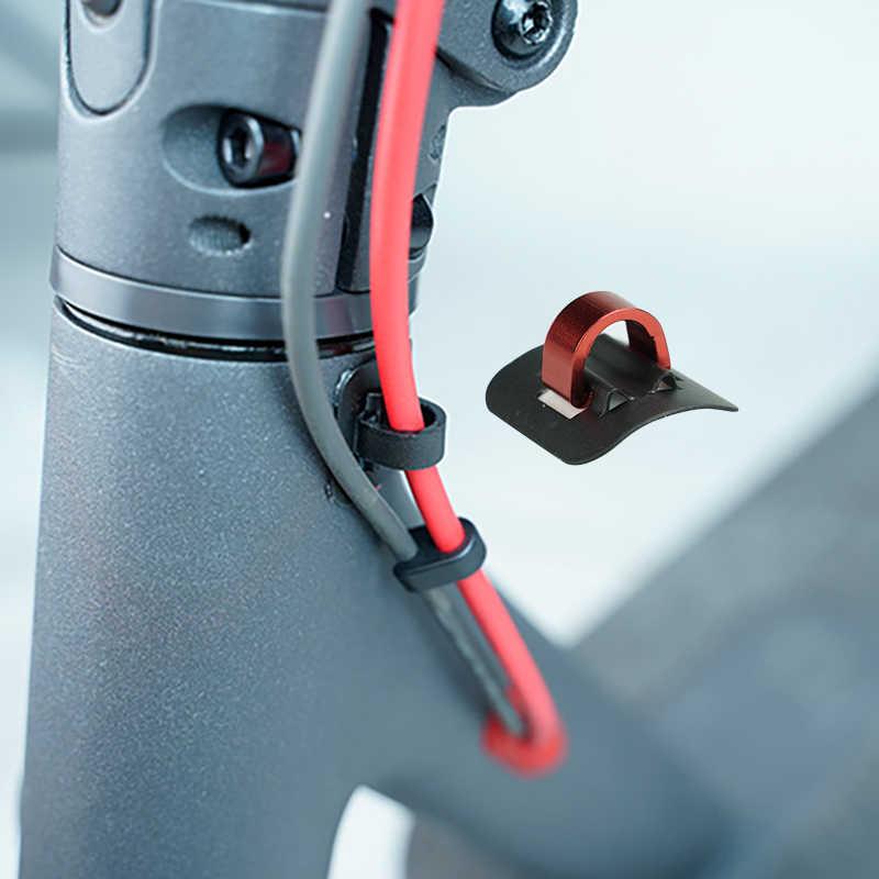 2 uds. Para Xiaomi M365 scooter Accessorie Scooter Eléctrico hebilla de cable aleación organizador scooter Eléctrico ligero monopatín