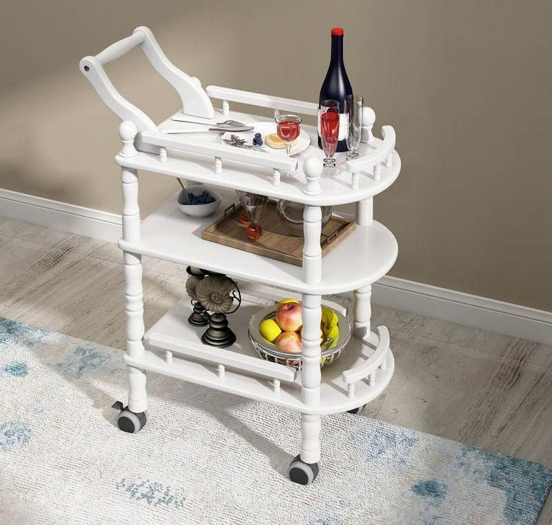 Wooden European Small Bubble Equipment Shelf High-end Beauty Salon Hotel Trolley Hair Manicure Tool Cart