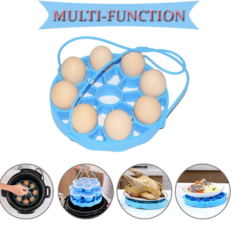 Silicone Egg Steamer Rack For Pot Accessories, Pressure Cookers Sling Holds 9 Eggs For 5/6, 8 Quart