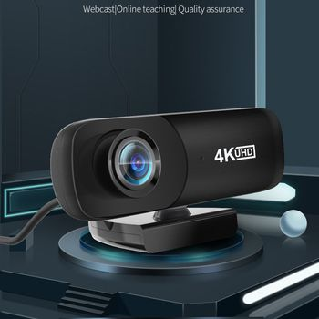 TISHRIC Best C160 2160P Webcam 4K UHD 4096*2160P Web Cam 800W Pixels Computer Camera 120° Wide Angle Web Camera with Microphone 2