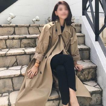 ZIAI 2020 spring women jacket long  coat warm lapel female windbreaker long sleeve lady casual stock hotsale ZS-7246