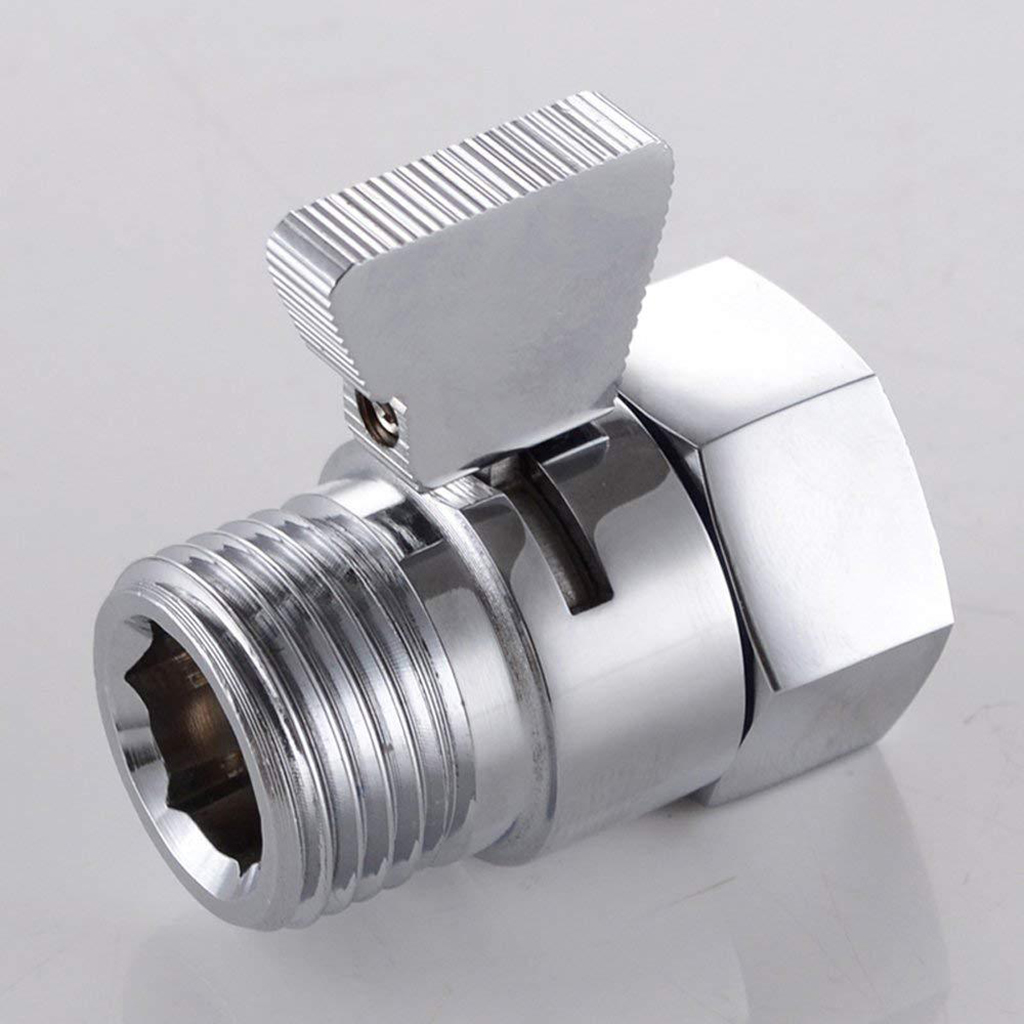 Universal Bathroom Shower System Component Shower Head Diverter Valve Water Saver Valve Shower Head Shut-Off Valve