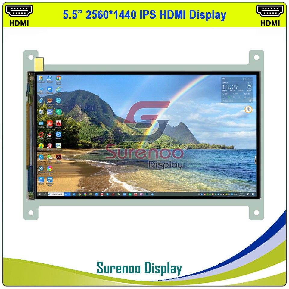 """5.5 """"hdmi tudo em um 2k 1440*2560 mipi afiado ips módulo lcd monitor tela painel lcm ls055r1sx04 para raspberry pi"""