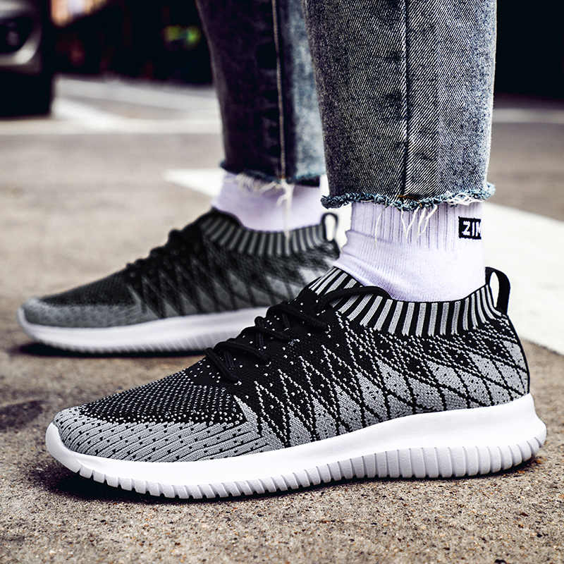 SHANTA 2019 Мужская обувь Beathable Air Mesh Мужская Повседневная обувь летние носки обувь мужские кроссовки Tenis Masculino Adulto размера плюс 48