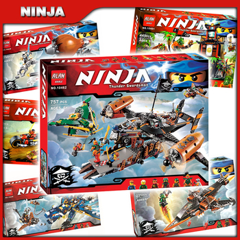 6types 2016 Ninja Theme Pirate's Airship Misfortune's Keep Zeppelin Dragon Model Building Blocks Child Toys Compatible With 1