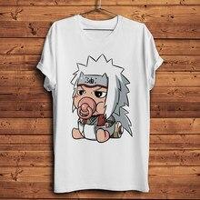 Divertida camiseta bonita de estilo para bebé Gama Sennin Jiraiya y Tsunade, camiseta de anime, camiseta informal blanca para hombres, camiseta unisex, ropa corta e informal manga