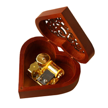 Handmade Wooden Music Box Happy Birthday Gift For Girlfriend Luxurious Love Heart Valentines Day Gifts Lovers