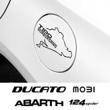 Tapa de tanque de combustible de coche pegatina para Fiat 124SPIDER ABARTH ALBEA CRONOS Doblo Ducato MOBI SEDICI STILO TIPO TORO UNO de Acceessories
