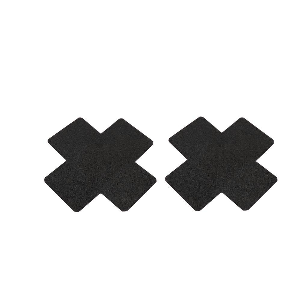 2 Pairs Cross Self-Adhesive Breast Luminous Nipple Cover Bra Pasties Pad Sticker