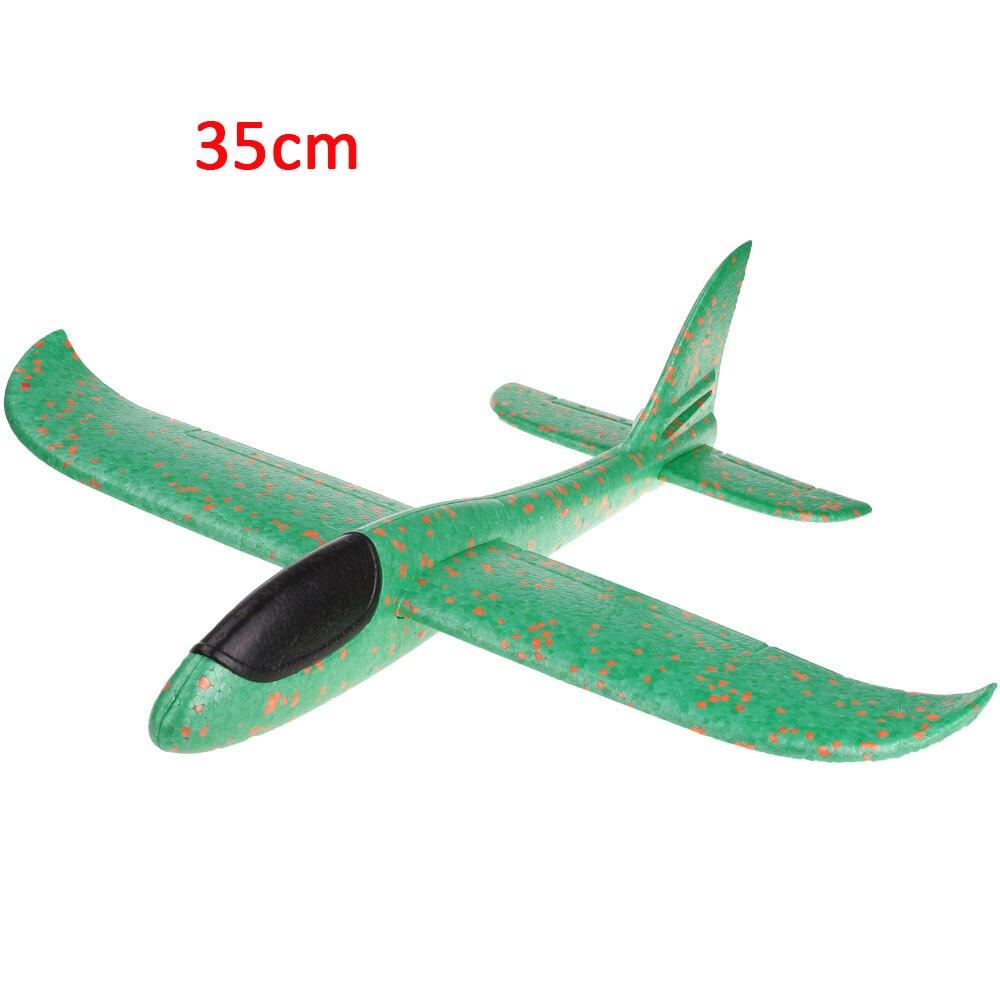 Детские игрушки «сделай сам» самолет из пеноматериала ручной бросок самолет Летающий планер самолет вертолеты летающие модели самолетов самолет игрушка для детей игры на открытом воздухе - Цвет: 35cm-Green